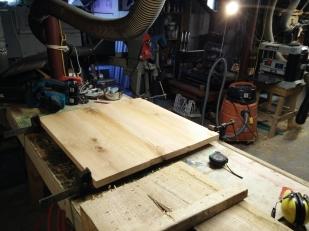 Joined oak planks
