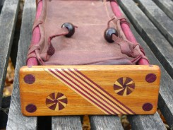 Leather exotic wood frame OP-1 case end