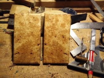 Matched oak burl phone cover blanks 2