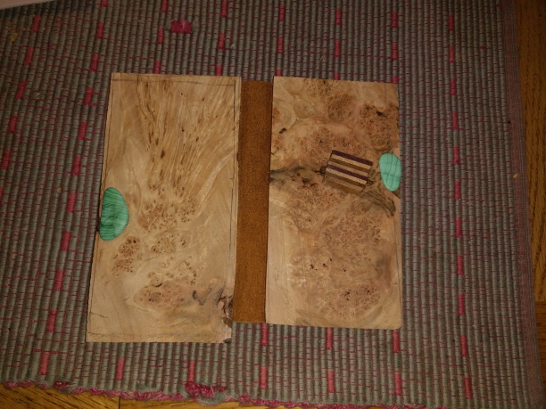 Matched oak burl phone cover blanks