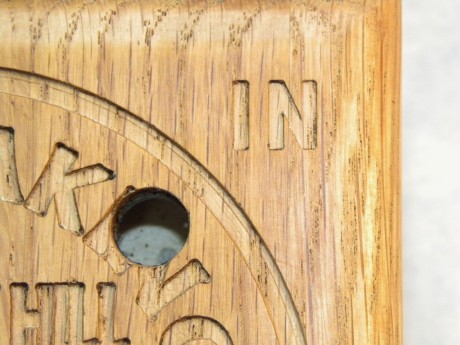 Oak ball maze puzzle in