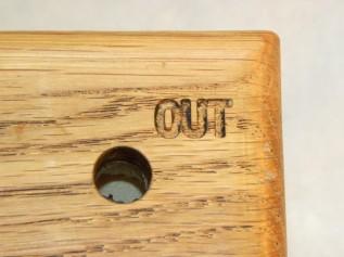 Oak ball maze puzzle out