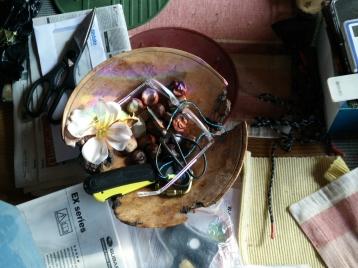 Oak burl bowl in situ