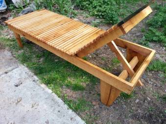 Oak reclining lounger 2