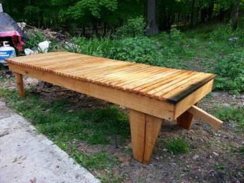 Oak reclining lounger
