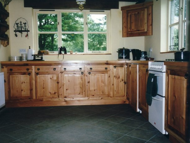 Pine kitchen cabinetry