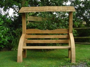 roofed bench front