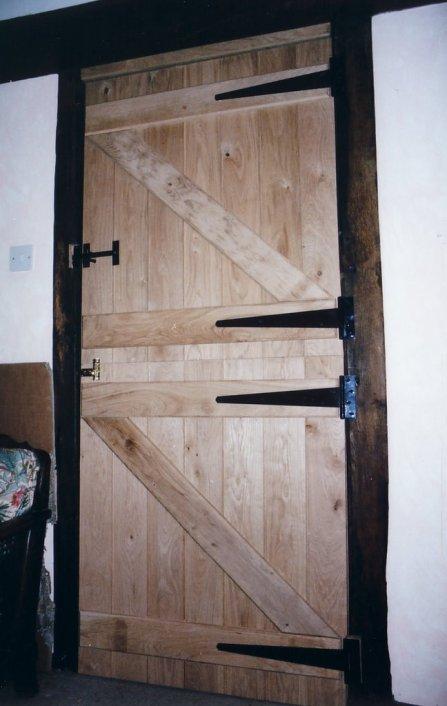 Welsh oak Dutch door