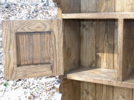 Welsh oak pot presser 2 top door back