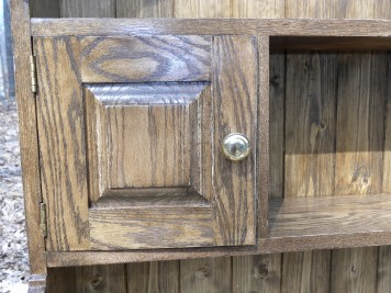 Welsh oak pot presser 2 top hutch door