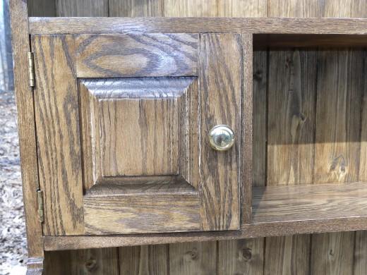 Welsh oak pot presser 2 top hutch door