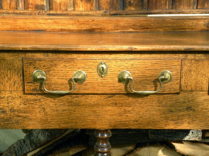 Welsh pot dresser drawer front