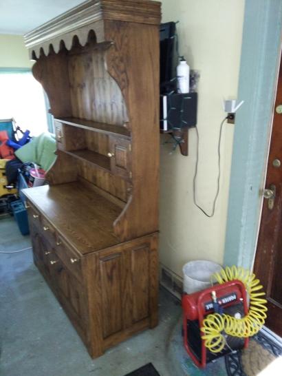 Welsh pot dresser front angle in situ