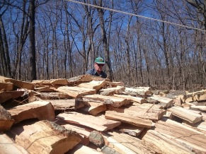 Woodpile roof