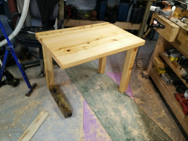 Horizontal Leg Table finished