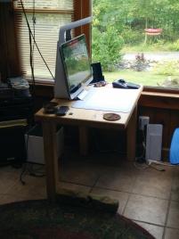 Horizontal Leg Table in situ