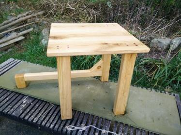 Horizontal Leg Table unfinished