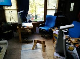 Sawshorse Footstool in situ