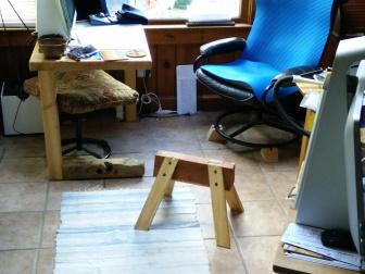 Sawshorse Footstool